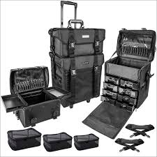 makeup artist box shany soft makeup artist rolling trolley cosmetic with set of