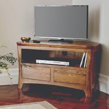 Compact Tv Units Design The Orrick Rustic Solid Oak Corner Tv U0026 Dvd Stand Is A Compact Yet