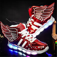 gold light up sneakers boys with luminous sneakers glowing wing kids light up shoes spring
