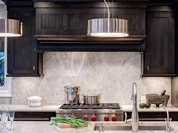 Dark Kitchen Cabinets With Light Granite Rustic Backsplash This Would Make A Lovely Rustic Backsplash