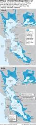 Map Of San Francisco Bay Area Scientists Expect Floods In Bay Area From Rising Seas In Coming