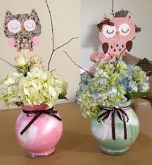 owl centerpieces my centerpieces i made with chach21 owl babyshower decorations
