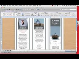 Tri Fold Program How To Create A Tri Fold Brochure Mp4 Youtube