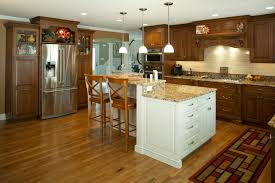 custom made kitchen cabinets chunky rustic curved kitchen island