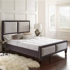 Fabric Platform Bed Rest Rite Mallory Gray Queen Panel Upholstered Platform Bed Frame