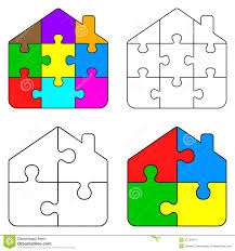 puzzle clipart house outline pencil and in color puzzle clipart