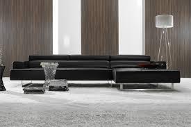 Contemporary Black Leather Sofa Gorgeous Contemporary Black Leather Sofa With Fabulous