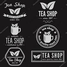 set of vintage labels emblems and logo templates for coffee tea