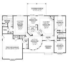 country style house floor plans country style house plan 3 beds 2 baths 1800 sq ft plan country