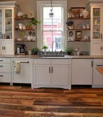 Hardwood Floor Kitchen by Antique Heart Pine Reclaimed Hardwood Flooring Installed
