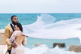 bahama wedding dress bridal bliss rashan and jamal s wedding in the bahamas essence