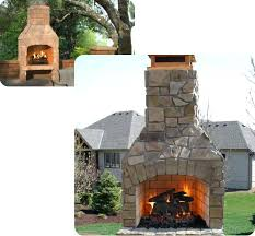 Stacked Stone Outdoor Fireplace - stone outdoor fireplace kits build own outdoor fireplace kits