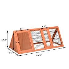6 Rabbit Hutch Pawhut Deluxe 47 U201d Pet Rabbit Hutch Bunny Large Cage House Wooden