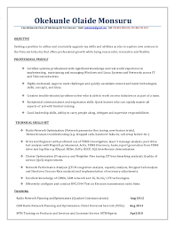 Rf Engineer Resume Sample by Rf Optimization Engineer Resume Docx