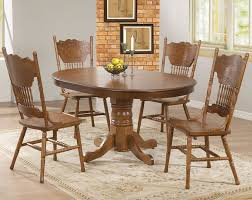 solid oak oval extending dining table with design picture 7683
