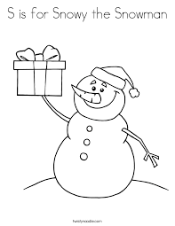 snowy snowman coloring twisty noodle