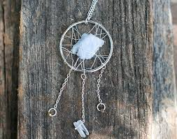 make necklace with stone images Make a statement dreamcatcher necklace with stones and wire jpg