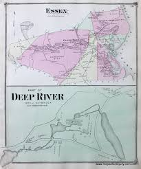Map Of Middlesex County Nj Part Of Deep River Saybrook And Town Of Essex Ct Antique Maps