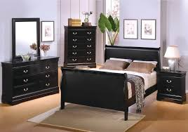 Black Sleigh Bed 127 10 Louis Philippe 2 Drawer Night Stand In Deep Black
