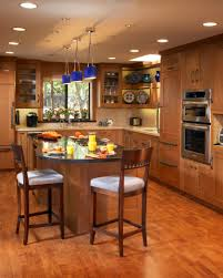dining room kitchen island shapes with built in microwave and