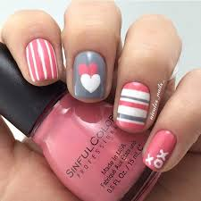 35 cute valentine u0027s day nail art designs simple nail designs