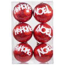 100mm ho ho ho noel ornaments box of 6 r20013 craftoutlet