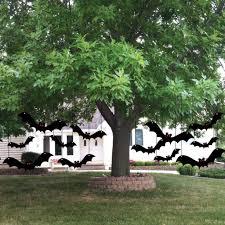 halloween yard decoration scary hanging bats halloween yard