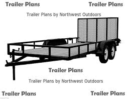 Teardrop Trailer Plans Free by 1 Trailer Plans 7x16 Low Deck Tandem Utility Trailer Plans