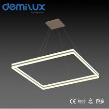 Square Pendant Light Modern Led Acrylic Square Pendant Lamp 80w Suspension Wire Light