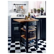 kitchen trolleys and islands stenstorp kitchen trolley black brown oak 45x43x90 cm ikea