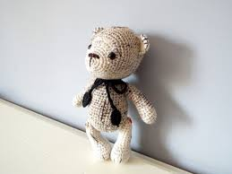 handmade crochet teddy bear amigurumi doll home decor baby shower