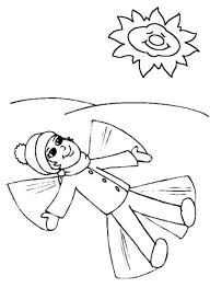 snowangel winter coloring girls coloring pages holiday