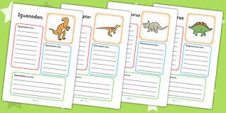 dinosaur fact file activity sheets dinosaurs fact file