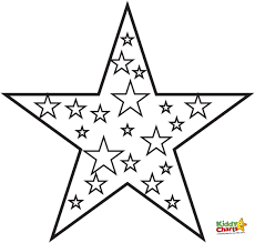 pin star shape coloring pages stars eson