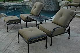Patio Club Chair Nassau Outdoor Patio Set 5pc Adjustable Club Chairs
