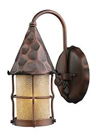elk 381 ac rustica outdoor wall sconce lighting antique copper