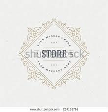 ornament logo design template vector flourishes stock vector
