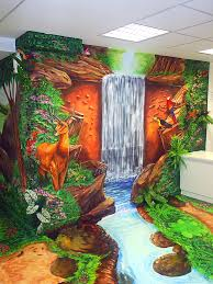 painted wall murals nature home interior painted wall murals nature 3