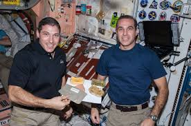 file iss 38 michael and rick mastracchio with a thanksgiving