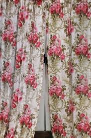 vintage pattern curtains beige vintage curtains with leaf patterns