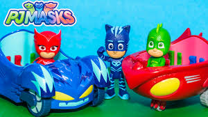 pj masks disney cat car owl glider toys playground adventure