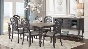coastal dining room sets home coastal charcoal 5 pc rectangle dining