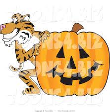 halloween pumpkins cartoons vector illustration of a cartoon tiger mascot with a halloween
