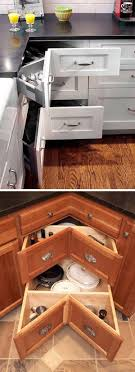 kitchen corner cupboard rotating shelf fabulous hacks to utilize the space of corner kitchen