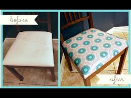 Kitchen Chair Seat Replacement How To Reupholster Dining Or Kitchen Chairs Youtube