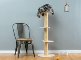 modern cat furniture sisal cat tree ozzy white worldwide shipping modern cat