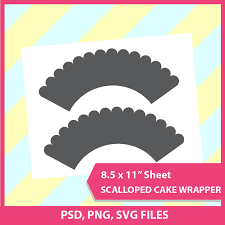 scalloped cupcake wrapper template psd png and svg formats 8 5