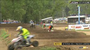 pro motocross live timing atv pro mx rnd 11 atv dirt days at loretta lynn u0027s day 1 racertv