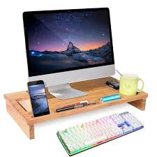 support ecran pc pour bureau homfa table pour ordinateur support ecran pc support moniteur en