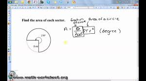 Area Of Sector Worksheet Geometry Circles Arc Length And Sector Area